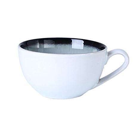 320ml taza de café, Taza Desayuno taza de leche, avena, simple taza de té: Amazon.es: Hogar