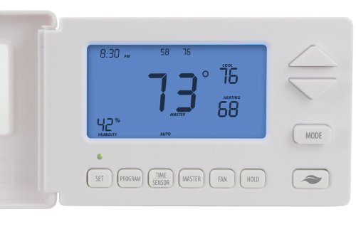 Insteon 2441TH Smart Thermostat, Works with Alexa via Bridge, Uses Superior Dual-Mesh Wireless Technology for Unbeatable Reliability - Better than Wi-Fi, Zigbee and Z-Wave