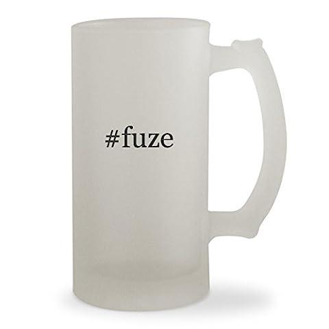 #fuze - 16oz Hashtag Sturdy Glass Frosted Beer Stein (Fuze Peach Mango)
