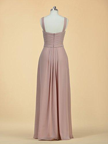 Alicepub Long Line Dress Party Chiffon Evening Bridesmaid Women Dress A blue Aqua for Prom ddnrpA