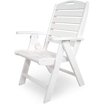 Genial Trex Outdoor Furniture Yacht Club Folding Highback Chair, Classic White