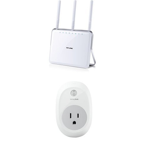 TP-LINK AC1900 Dual Band Wireless AC Gigabit Router and HS100 Smart Plug, Wi-Fi Enabled