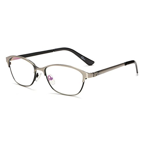 D.King Vintage Inspired Classic Prescription Eyeglasses Metal Frames Clear Lens Glasses Gun-Gray