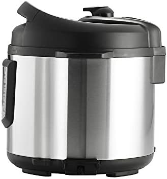 Tramontina 80130 505DS Multi - Use Electric Programmable Nonstick Inner Pot Pressure Cooker, Soup Stew, Fish Vegetable, Meat, Beans, Brown Rice, Chicken Chili Cooker, 6.3-Quart