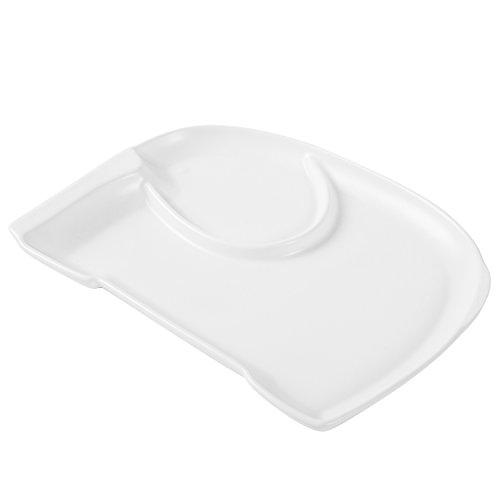 MyGift White Ceramic Elephant Shaped Children's Sectioned Dinner Plate