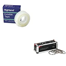 KITACC72205MMM6200341296 - Value Kit - Acco Metal Book Rings (ACC72205) and Highland Invisible Permanent Mending Tape (MMM6200341296)