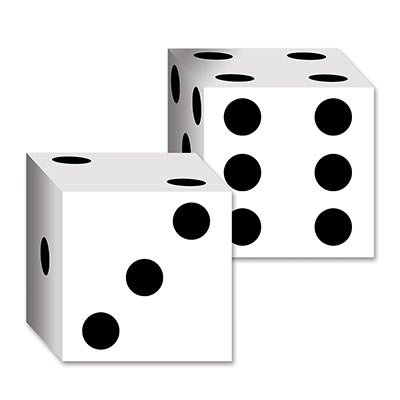 Beistle 54132 2-Pack Dice Card Boxes, 6-1/2-Inch by 6-1/2-Inch (Value -