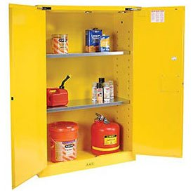 Justrite 894520 Sure-Grip EX Flammable Safety Cabinet, 2 Door, Self Closing, Dimensions (H x W x D): 44 x 43 x 18 inch (1651 x 1092 x 457 mm); 45 gal. (170L) by Justrite