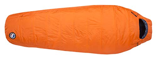 Big Agnes Lost Dog 15 (FireLine Eco) Sleeping Bag, Long, Right Zip, Orange/Navy