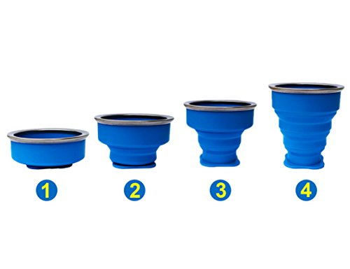 2 pcs Tazas de Silicona Plegable, Copa de viaje plegable, 230 ml Grado de comida Copa plegable de Taza de café Portable… 1