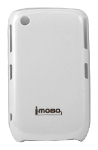 MOBO IM-HC-UVMBB8520-01WH Leather Cell Phone Case for iMobo Case Blackberry 8520/8530/9300/Curve Gemini - 1 Pack - Retail Packaging - White