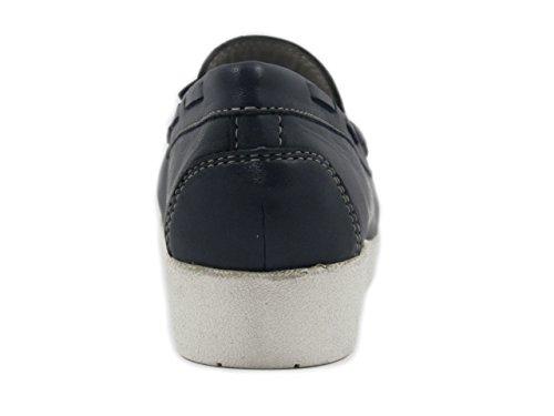 OSVALDO PERICOLI Kelidon Mocassino Comfort, in Pelle Colore Blu, 9504D-E17
