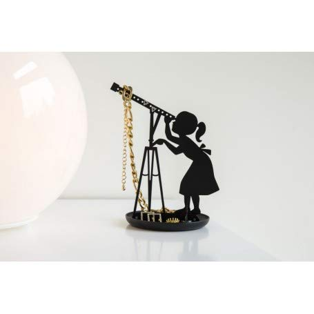 Kikkerland Stargazer Ring /& Jewelry Holder//Stand Black