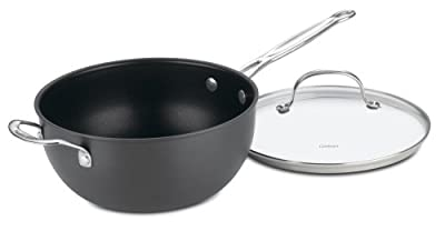 Cuisinart 6354-24H Chef's Classic Nonstick Hard-Anodized 4-Quart Chef's Pan with Helper Handle and Glass Cover