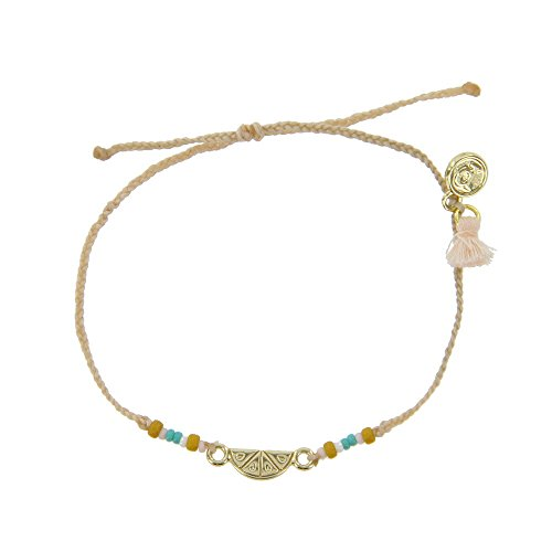 Pura Vida Gold BB Fruit Slice Cream Bracelet - Plated Charms, Adjustable Band - 100% Waterproof from Pura Vida