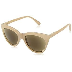 Peepers Women's Mimosa Sun Cateye Sunglasses, Tan, 2.5