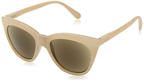 Peepers Women's Mimosa Sun Cateye Sunglasses, Tan, 2.5