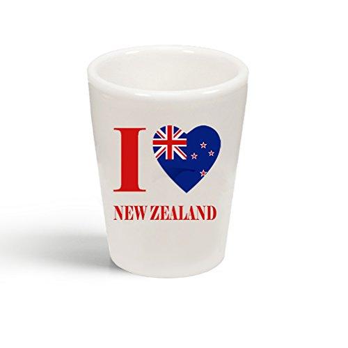 Style In Print I Love New Zealand Ceramic Shot Glass - Zealand Glasses New