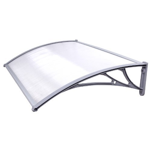 Songmics GVH017 Door Canopy Door Entry Awning Semi-Transparent 125 x 75 cm
