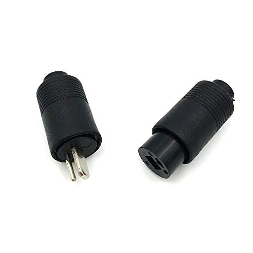 5Pairs 2 Pin DIN Male + Female Speaker Plug 2-Pin Plug HiFi Loudspeaker Solder Connector