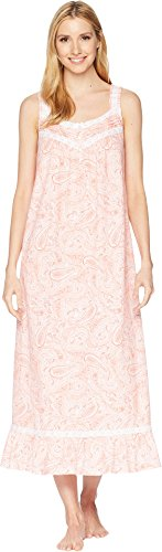 Jersey Dress Print Paisley (Carole Hochman Women's Soft Jersey Sleeveless Long Gown Water Paisley Medium)