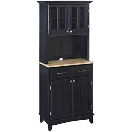 Home Styles 5001 0041 42 5001 Series Wood Top Buffet Server And Hutch Black 29 1 4 Inch