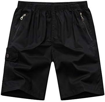 LF- 夏のメンズショートパンツコットンルーズ大きいサイズのメンズカジュアル五点パンツメンズショートパンツを着用してください 快適な (Color : Black, Size : L)