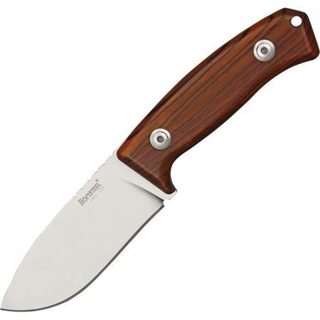 Lion Steel Knives M2CB Hunter Fixed Blade Knife with Brown Cocobolo Wood Handles