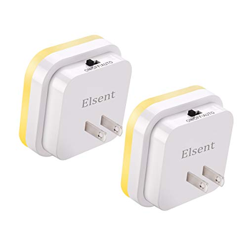 [ Bright Warm White Glow ] Plug in Motion Sensor Light, LED Motion Activated Night Lights, Pack of 2