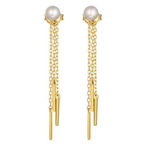 - Freshwater Pearl Gold Plated Chain Tassel Earrings S925 Silver Drop Earrings Necklace Jewelry Crafting Key Chain Bracelet Pendants Accessories Best