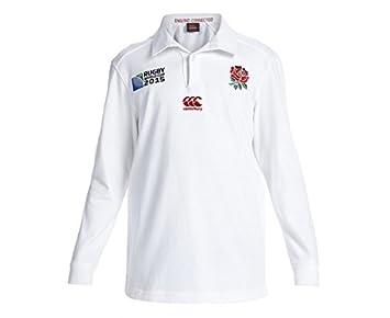INGLATERRA 2015/16 LS RWC Camiseta de Rugby Clásica Local Junior ...