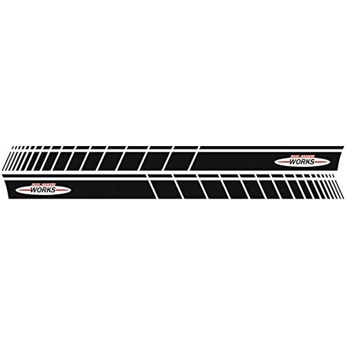 Car Styling Door Side Stripe Skirt Sticker Graphic Decal For Cooper Coupe R58 R59 R56 F56 John Cooper Works JCW Accessories - (Color Name: Gloss Black)