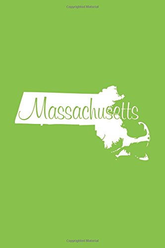 Read Online Massachusetts - Lime Green Lined Notebook with Margins: 101 Pages, Medium Ruled, 6 x 9 Journal, Soft Cover ebook