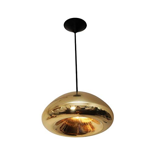 Spice Semi Flush - ZCYX - Chandelier Chandelier Retro Creative Glass Chandelier Bedroom Bedside Dining Room Living Room Showroom Personality LED Chandelier (Color : Gold)
