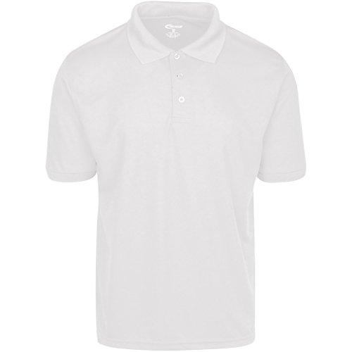Mens White Drifit Polo Shirt XXL