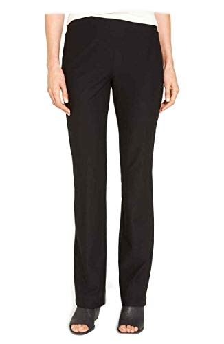Eileen Fisher Washable Stretch Crepe Black Slim Boot Cut Pants 1X