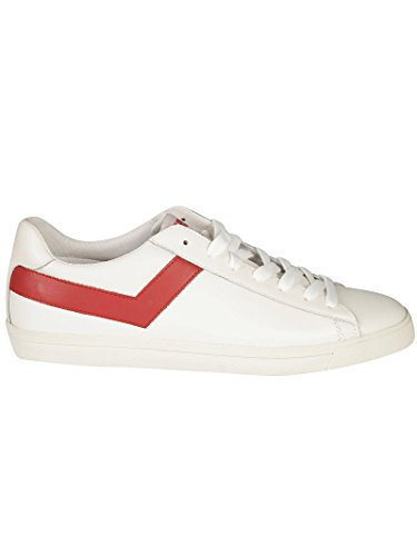 Pony Uomo 634 A DK4 Sneakers Bianco-Rosso Pelle Spring-Summer 2018