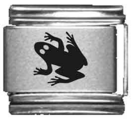 (Frog Laser Italian Charm)