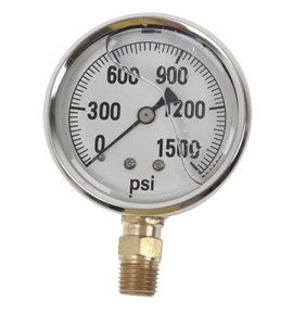GAUGE-1500 PSI LIQUID FILL SS CASE (Ss Fill Gauge Liquid)