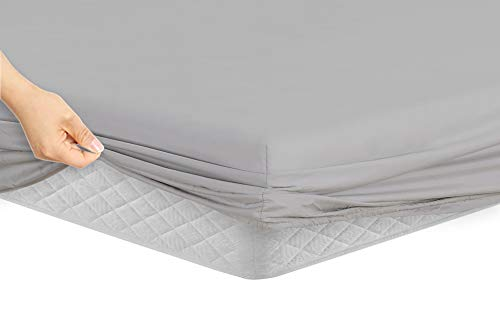 Manor Ridge Luxury 100GSM Brushed Microfiber Hypoallergenic Fitted Sheet, California King, ()