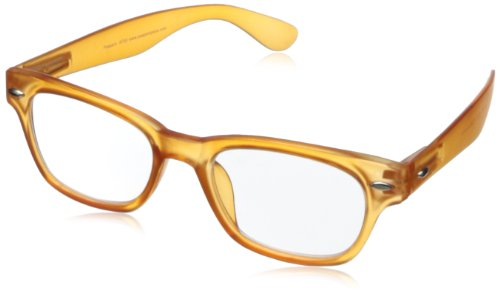 Peepers Wayfarer Rainbow Bright Retro Reading Glasses,Orange,2.5, 45 mm (Bright Orange Glass)
