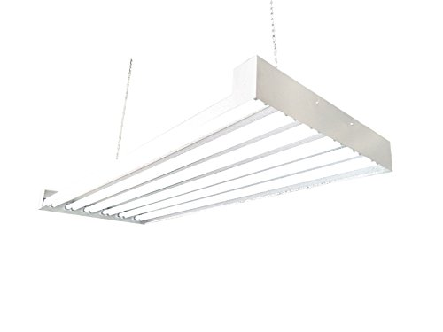 T5 HO Steel Grow Light | 4 FT 12 Lamps | DL8412T Fluorescent Hydroponic Indoor Fixture | Veg Bulbs For Sale