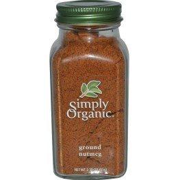 Simply Organic, Ground Nutmeg, 2.30 oz (65 g)(pack of 2)
