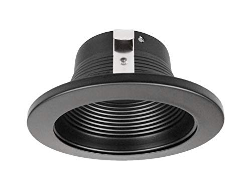 NICOR Lighting 4-Inch Recessed Baffle Trim for 4-Inch Housings, Black (19502BK)