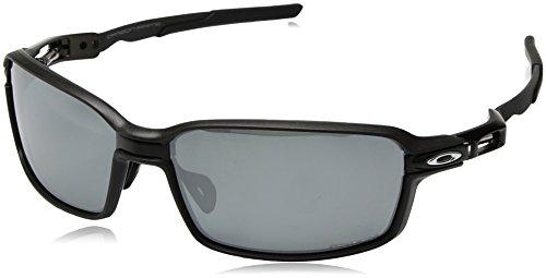 Oakley Men's Prime Polarized Iridium Rectangular Sunglasses, BLACK/CARBON FIBER, 64.0 mm ()