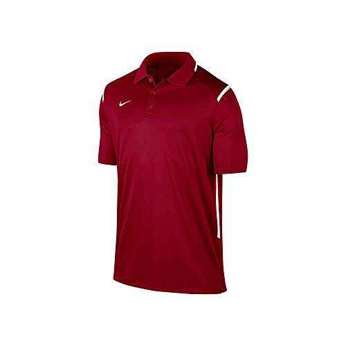 - NIKE New Men's Team Gameday Polo Shirt TM Cardinal/TM White/TM White Medium
