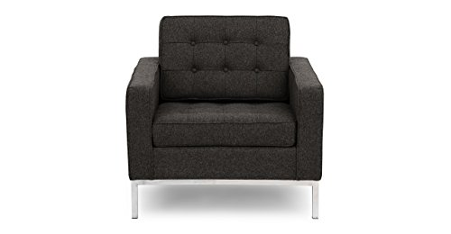 Kardiel FKL1-CHARCOAL Florence Knoll Style Chair Charcoal