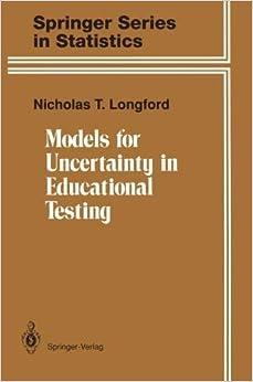 Descargar Libros Torrent Models For Uncertainty In Educational Testing Formato PDF Kindle