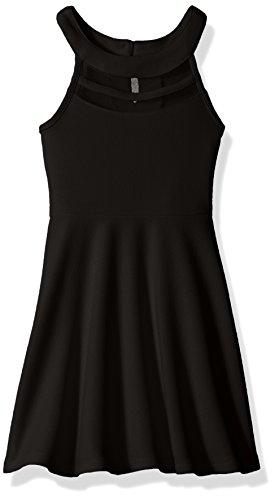 The Children's Place Big Girls' Sleeveless Dressy Dresses, Black 3814, L (Black Kids Dress)