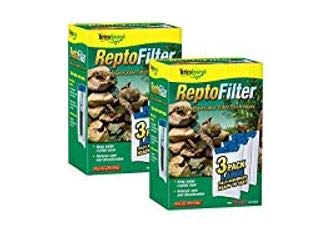 Tetra ReptoFilter Filter Cartridges, Large - 12 Total Cartridges (4 Packs with 3 per Pack)